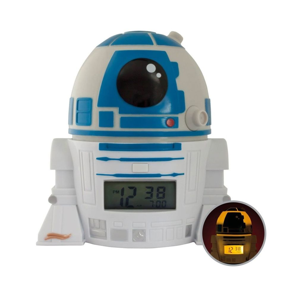 Clictime Star Wars - Réveil lumineux BulbBotz R2-D2 14 cm