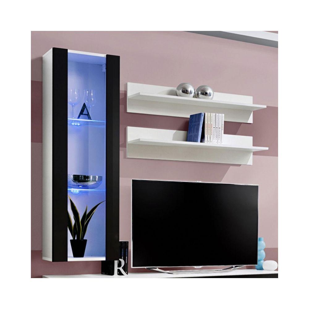 Paris Prix Meuble Tv Mural Design Fly Ii 170cm Noir Blanc Meubles Tv Hi Fi Rue Du Commerce