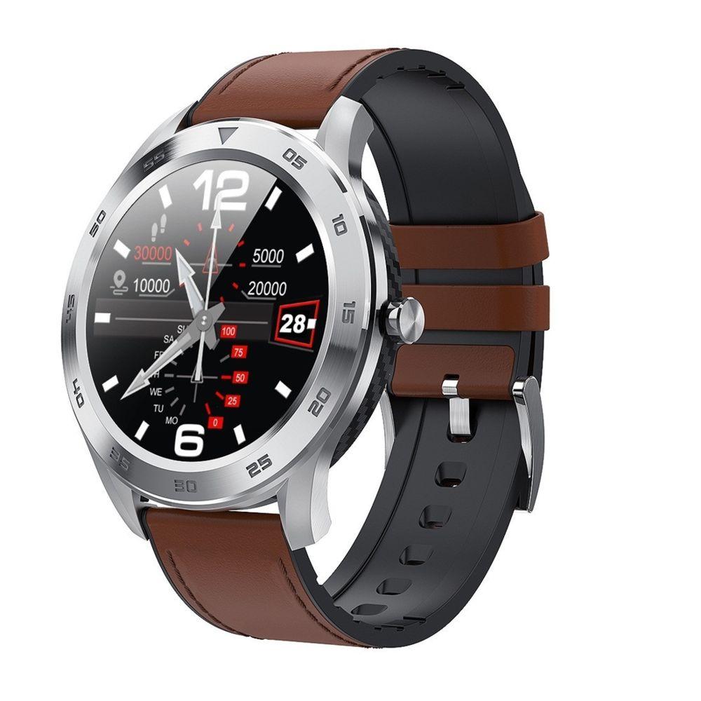 Wewoo - Montre connectée Smartwatch avec bracelet en cuir..