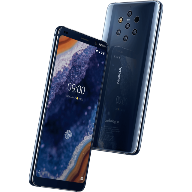 Smartphone Android 9 PureView - Bleu + Earbuds Nokia True Wireless
