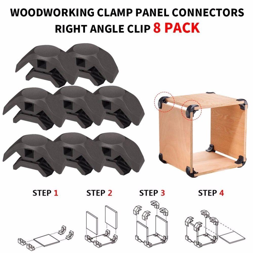 Generic Set Connecteurs panneau de bois Pince à angle droit de clip pour le bricolage Mobilier Placard Table