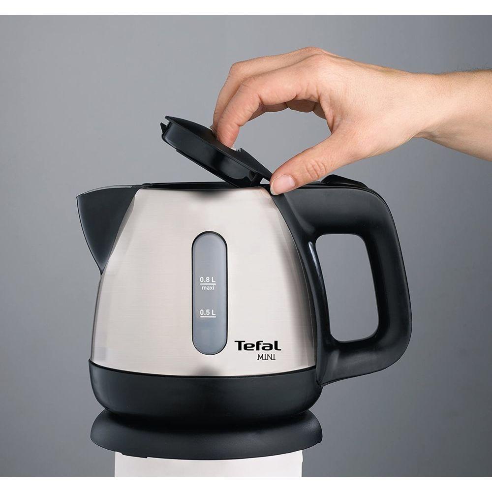 Tefal bouilloire électrique de 0,8L sans fil avec base 360° 2200W gris noir