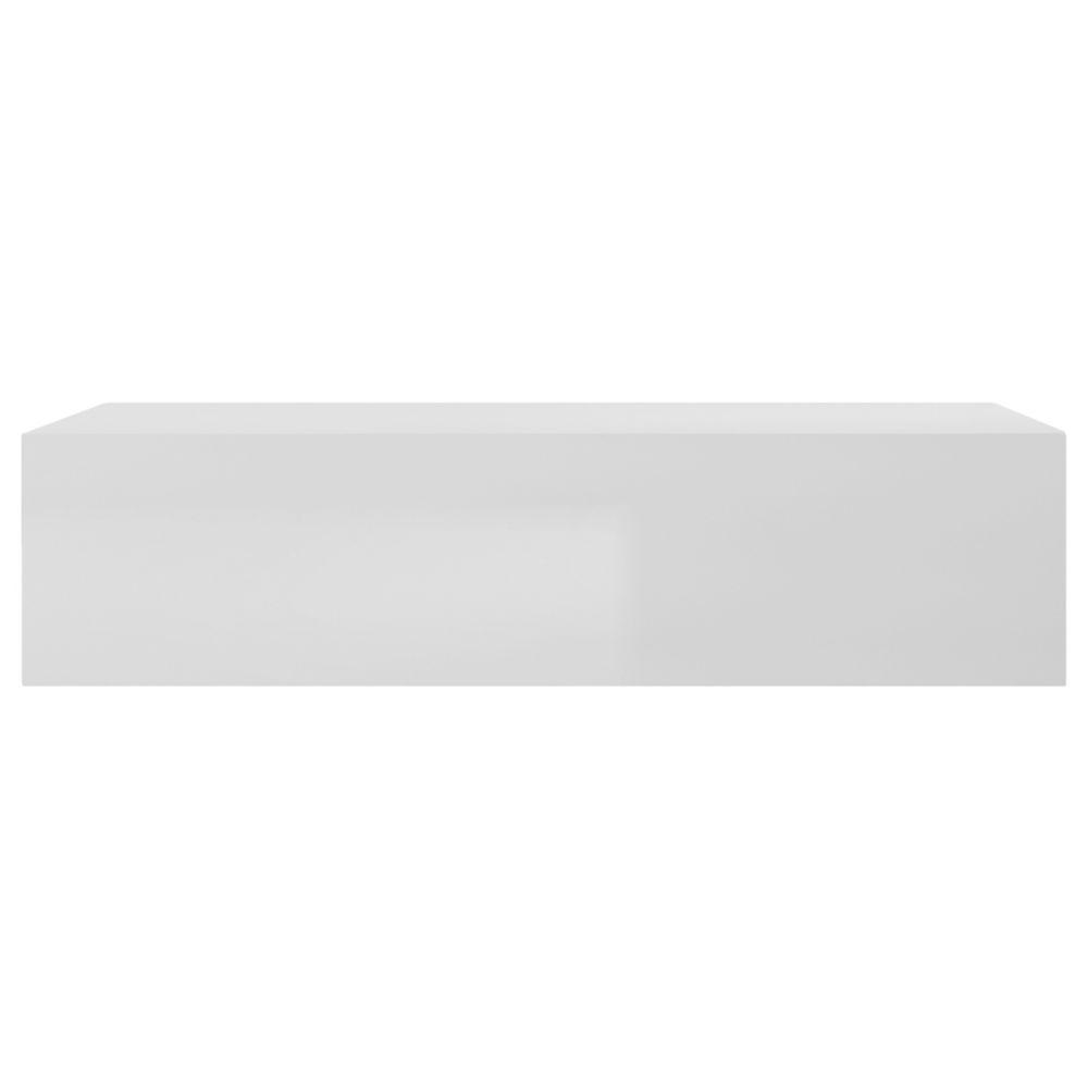 Miliboo Élément mural TV horizontal laqué blanc brillant ETERNEL