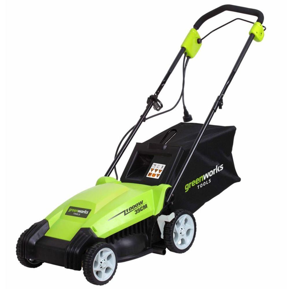 Greenworks Greenworks Tondeuse à gazon électrique GLM1035 230 V 35 cm 2505107