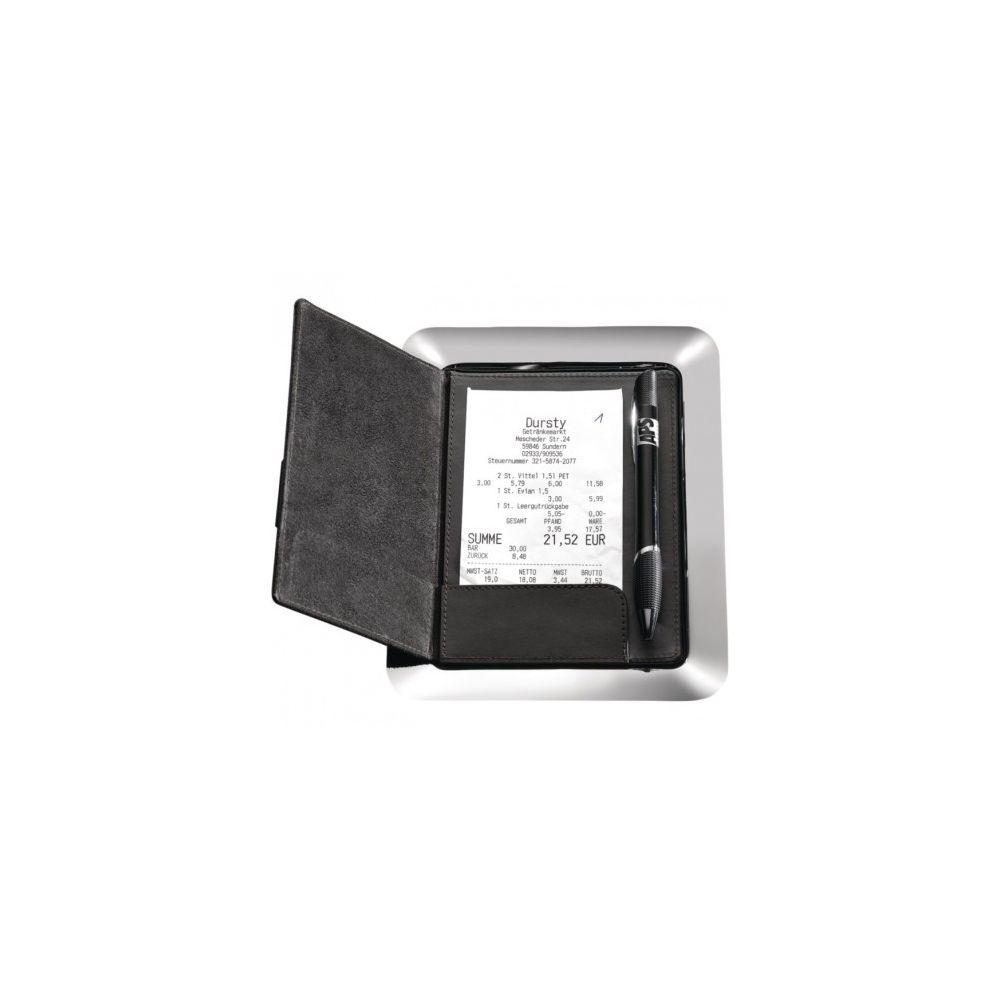 Materiel Chr Pro Porte-addition magnétique professionnel inox et cuir APS - 20 x 16 cm -