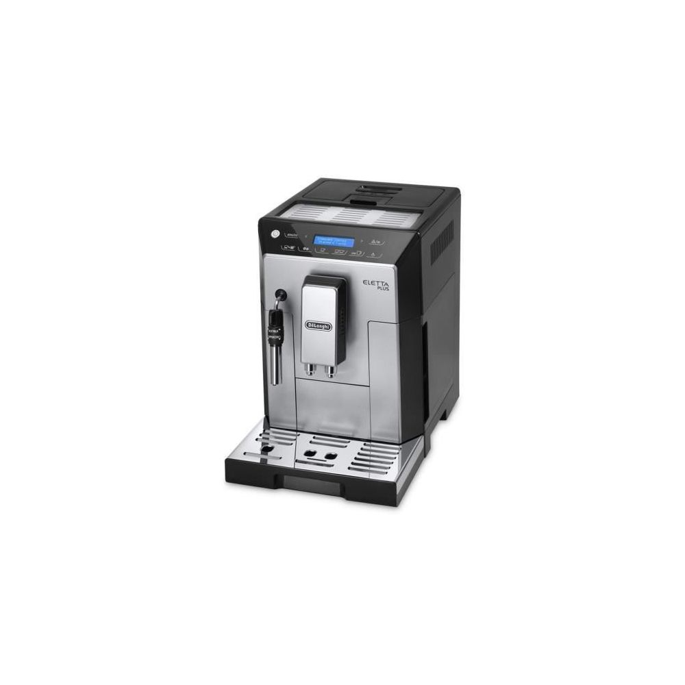 Delonghi machine à expresso avec écran et broyeur pour Café en grains et moulu 1450W noir gris