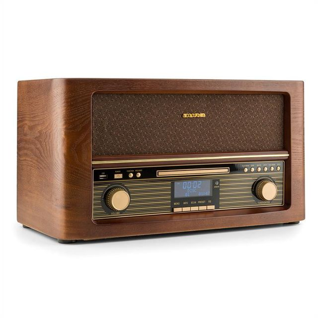 Auna - auna Belle Epoque 1906 DAB Chaîne hifi rétro Bluetooth CD USB MP3 FM auna - Hifi