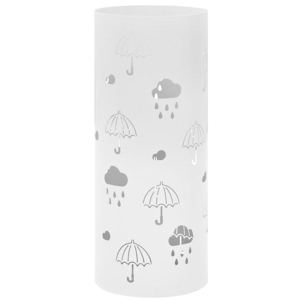 Vidaxl vidaXL Porte-parapluie Design Parapluies Acier Blanc