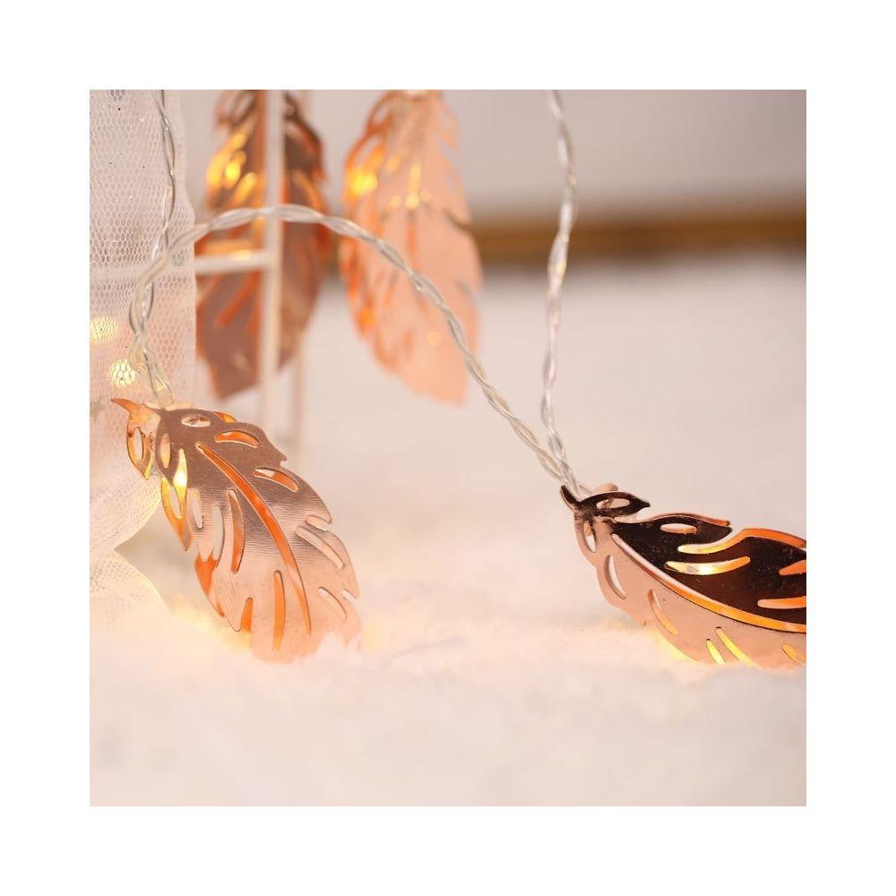 Wewoo Guirlande LED 3m plume d'or prise USB romantique chaîne vacances lumière, 20 LEDs adolescente style chaleureuse fée lamp