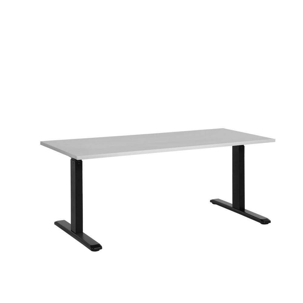 Beliani Beliani Bureau gris et noir 160 x 72 cm hauteur réglable manuellement UPLIFT II - gris