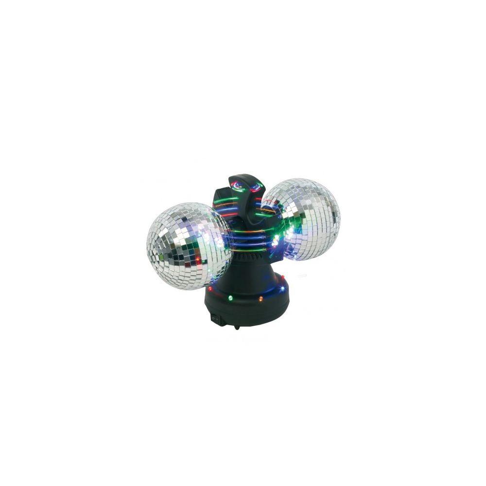 JJA Boule à facette LED rotative sur socle