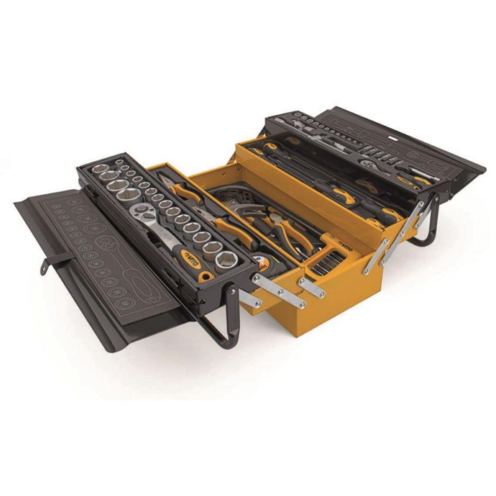 Vito Pro-Power Caisse à outils métallique VITO 88 Pièces Qualité CHROME VANADIUM Outils robustes Haute qualité