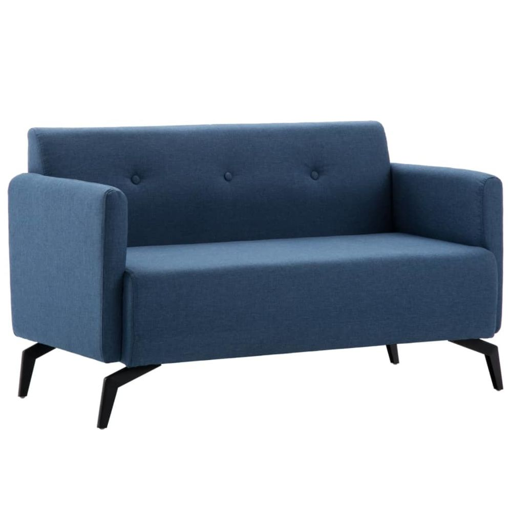 Vidaxl Canapé à 2 places Revêtement en tissu 115x60x67 cm Bleu - Meubles - Canapés   Bleu   Bleu