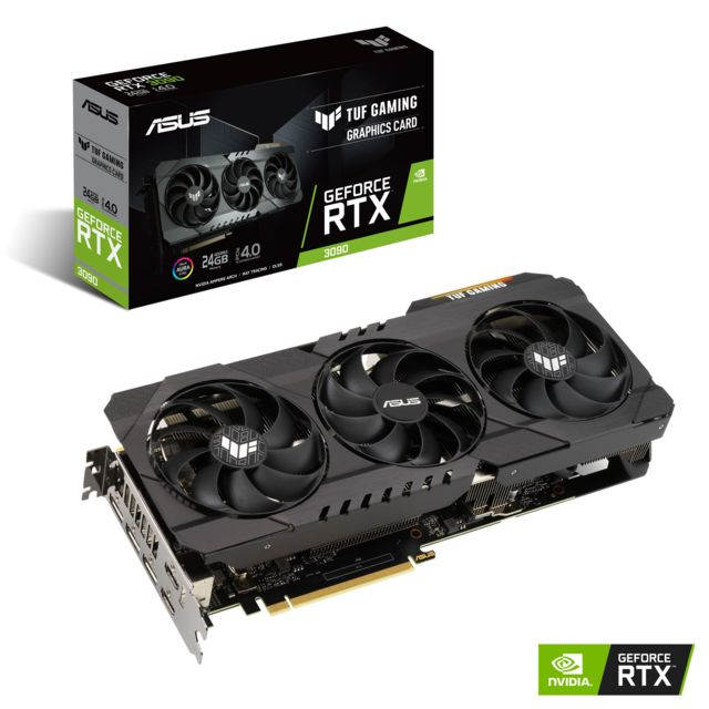 Asus - GeForce RTX 3090 OC - TUF GAMING Triple Fan - 24Go  - Carte Graphique NVIDIA