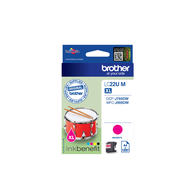 Brother - LC22UM - Cartouche d'encre Magenta Brother   - Brother