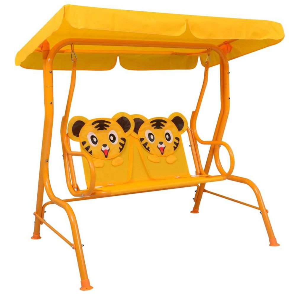 Generic Balancelle pour enfants Jaune 115x75x110 cm Tissu