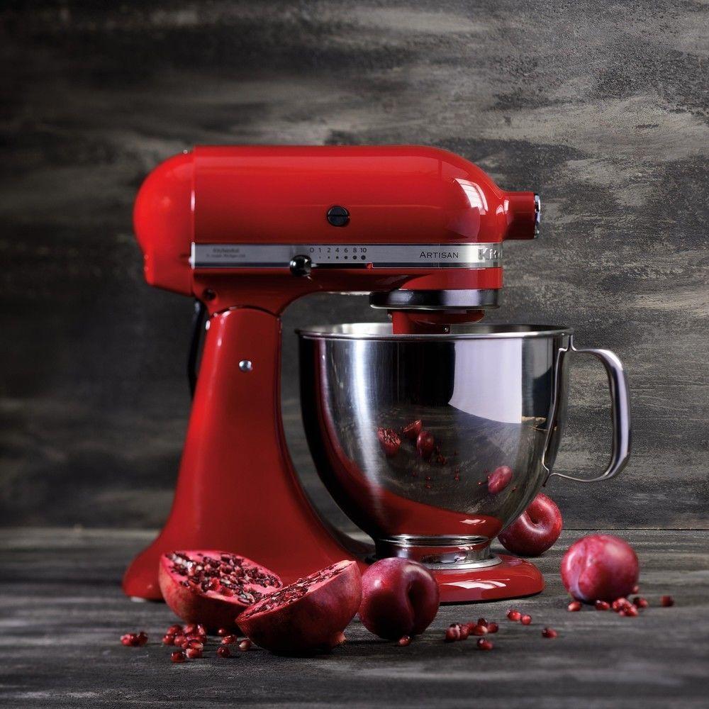Kitchenaid robot multifonction de 4,8L 300W rouge empire argent