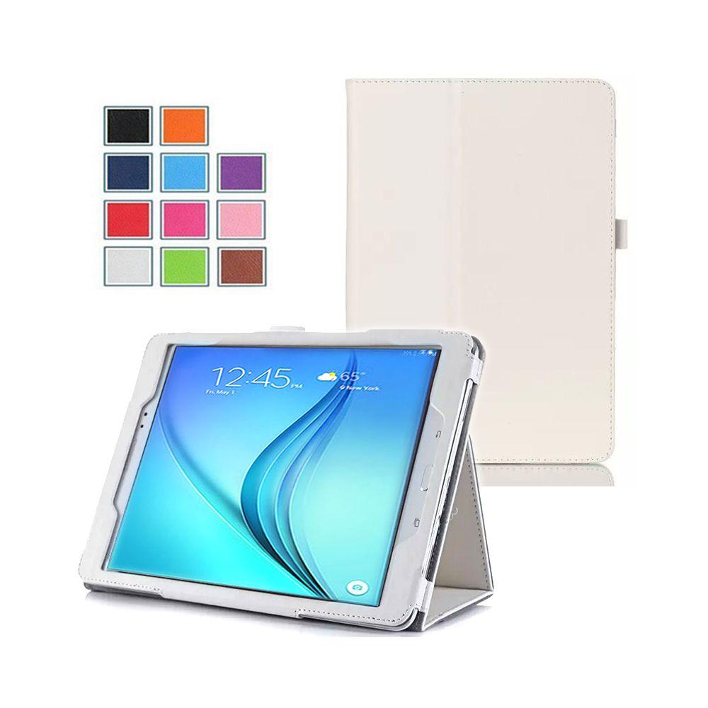 Xeptio - Samsung Galaxy Tab A 9.7 pouces Cuir PU blanc avec Stand - Etui coque de protection tablette