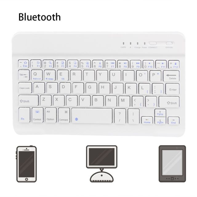 Generic - Slim clavier sans fil Bluetooth pour iMac / iPad Android Phone Tablet PC portable - Pack Clavier Souris