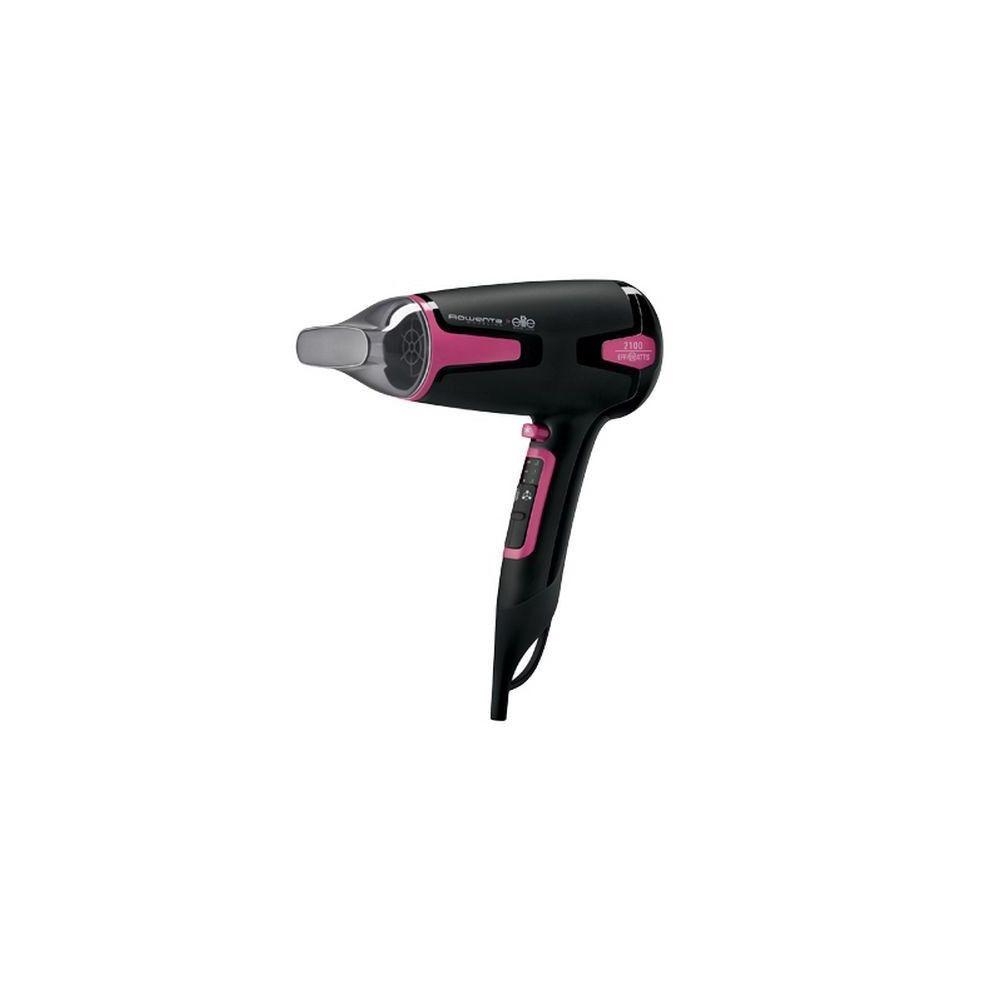 Totalcadeau Sèche-cheveux 1700W Noir, Rose - Soins du cheveux sechage rapide Fonction Air frais et Fonction Ionique