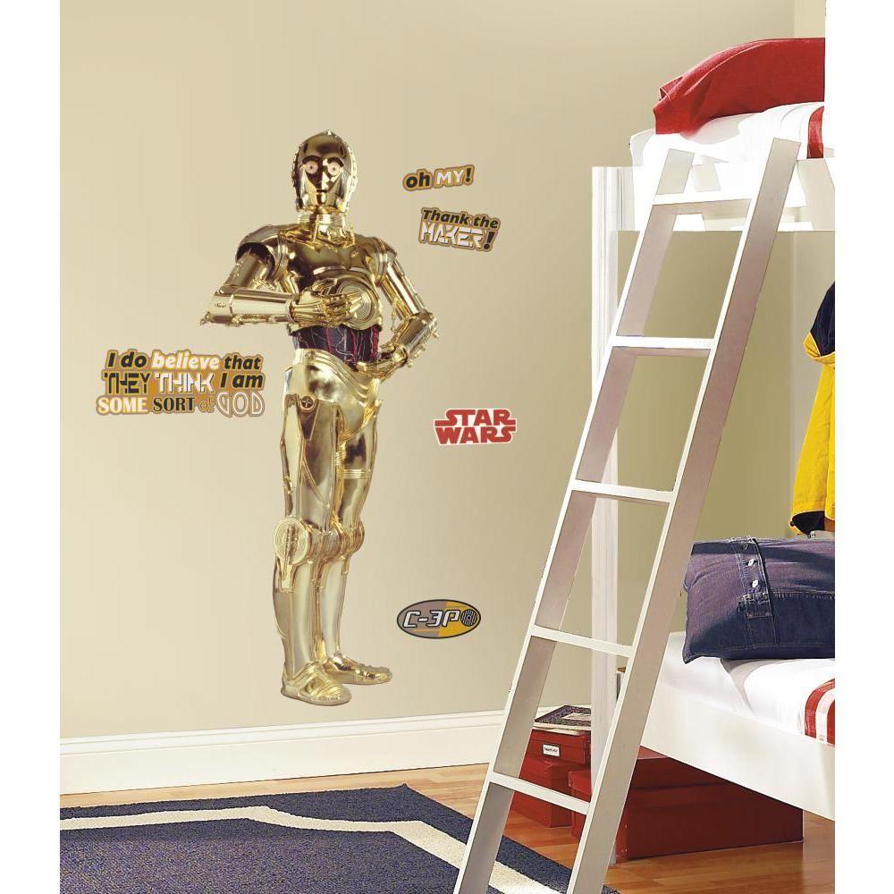 Mon Beau Tapis STAR WARS C-3PO - Stickers repositionnables géants C-3PO, personnage de Star Wars 146x61