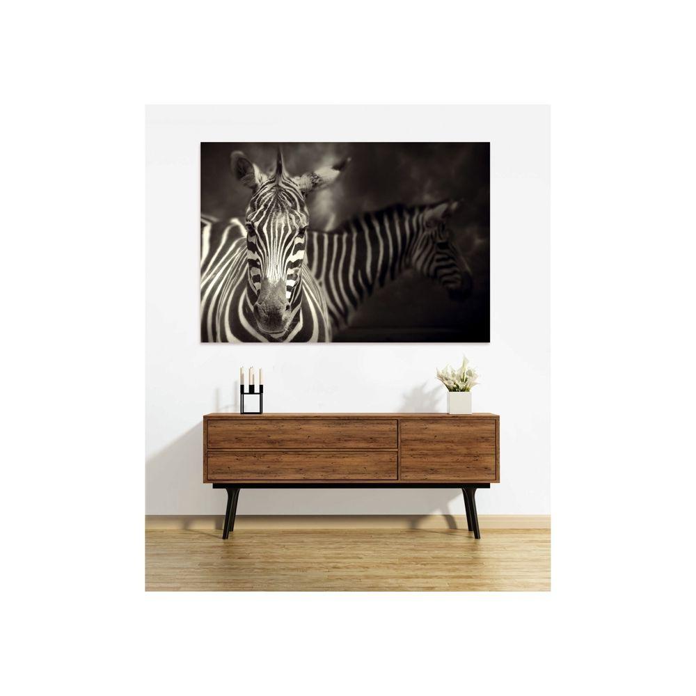Rendez Vous Deco Tableau en verre acrylique Zebra 130 x 90 cm