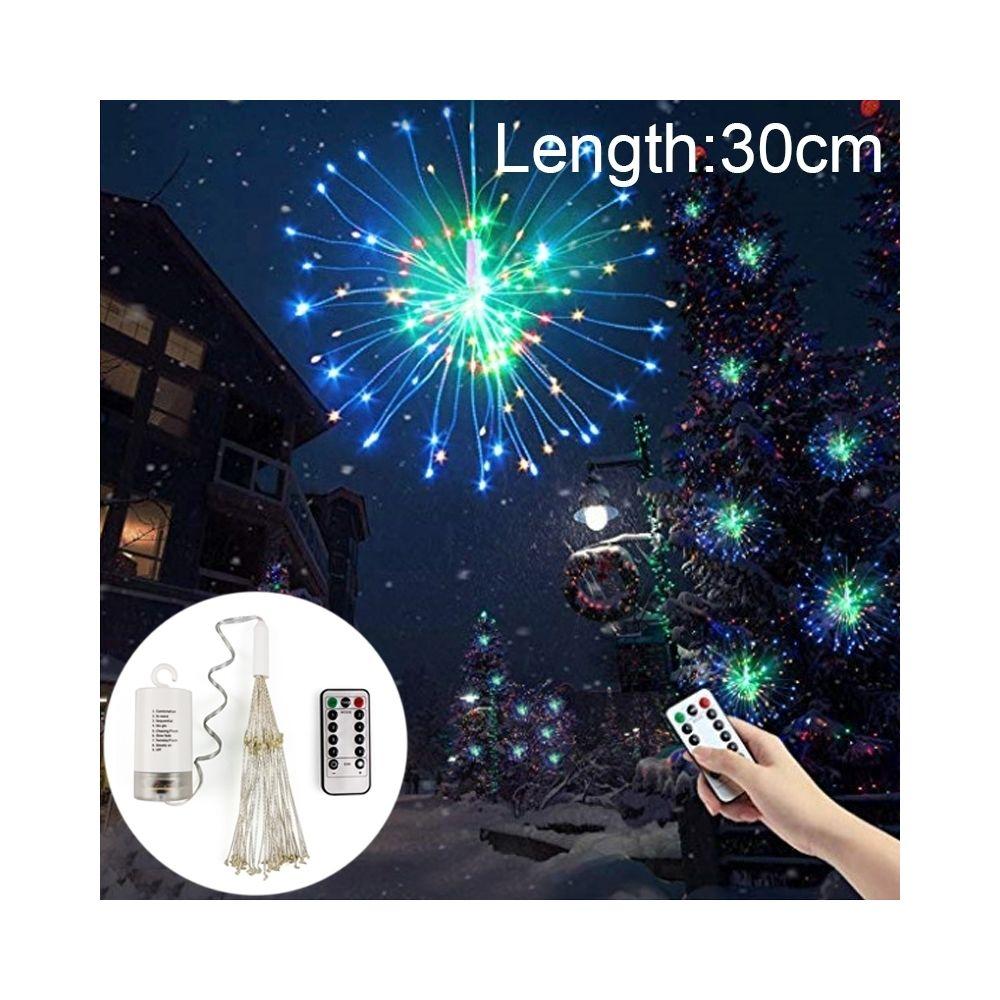 Wewoo Guirlande LED lumineuse de fil cuivre 30cm feux d'explosion boule feu d'artifice, lumière décorative la boîte 150 piles