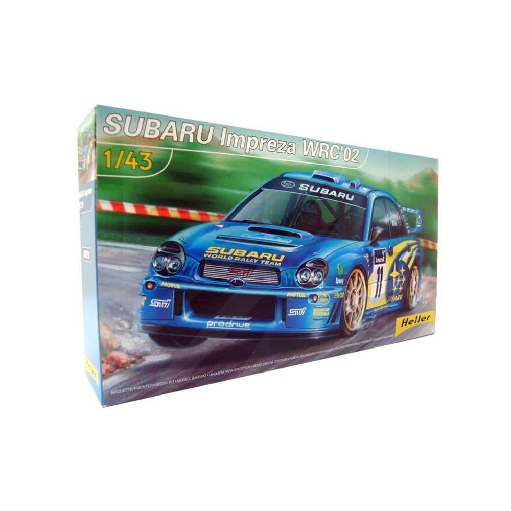 Heller Subaru Impreza WRC 02 1/43 (Accessoires Colle Peinture inclus) Heller