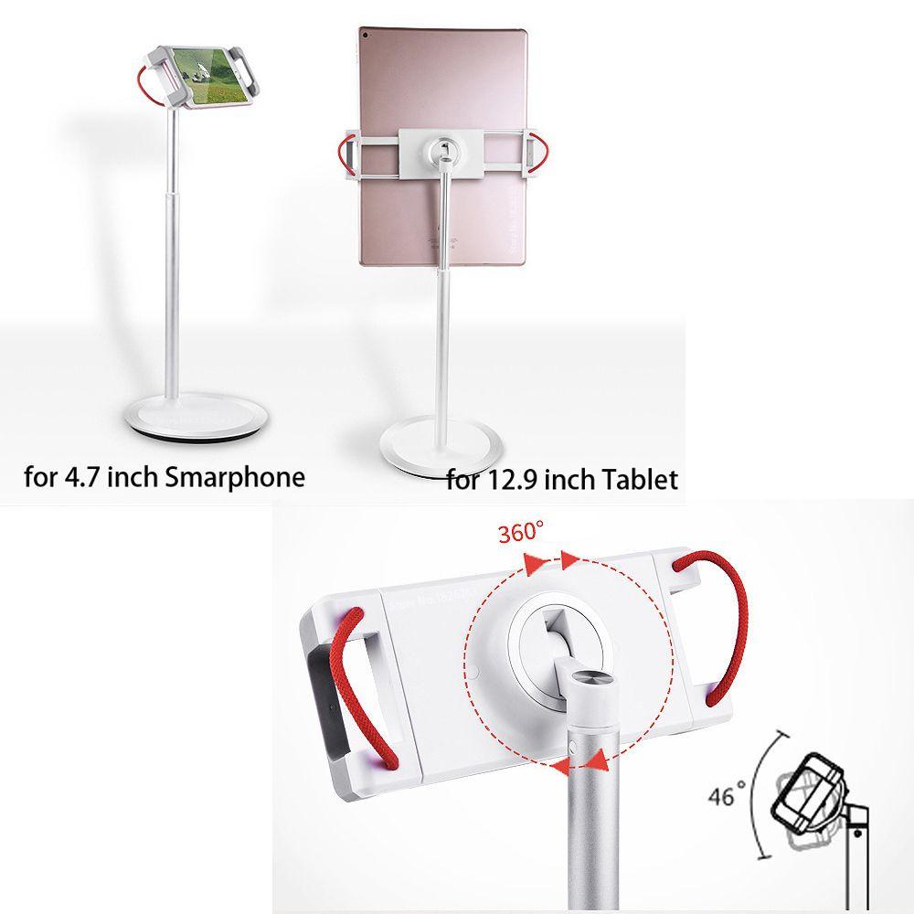 Generic Support Extensible Alliage Aluminium Pour Tablette Mobile 4,7 À 12,9 Pouces