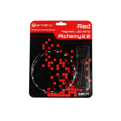 Bitfenix - Bande LED magnetique Alchemy 2.0 - 30 cm - Rouge Bitfenix   - Néon PC Bitfenix