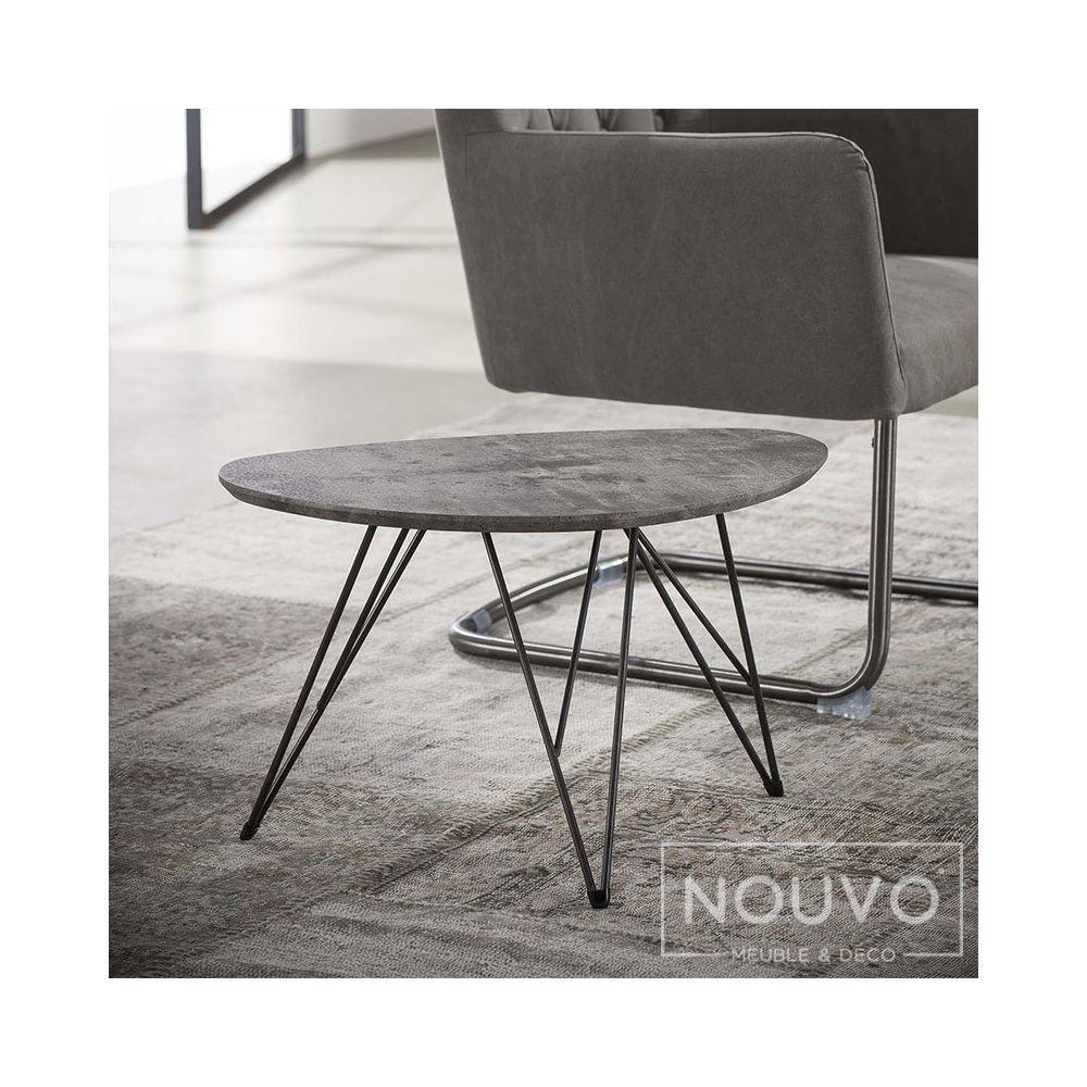 Nouvomeuble Table basse design effet béton PIA