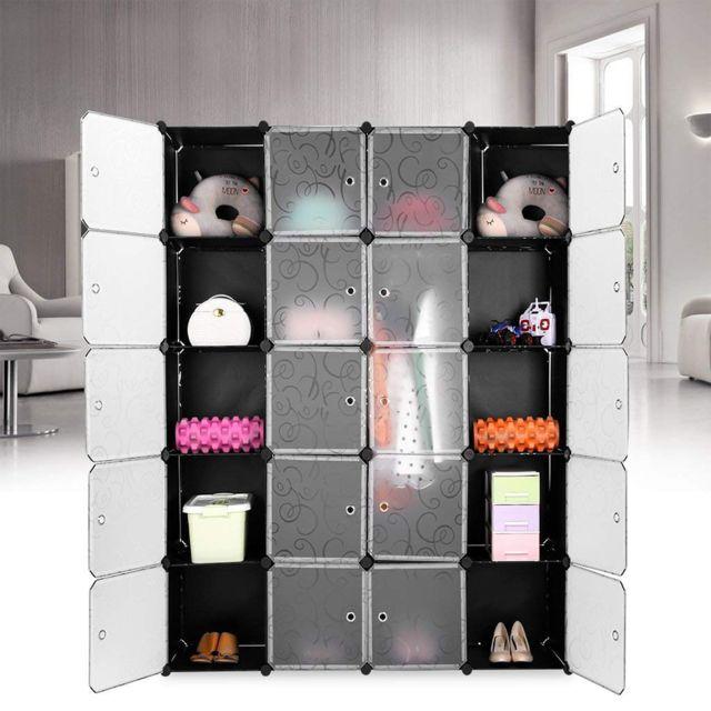 etageres a chaussures etagere de rangement 20cubes armoire avec portes