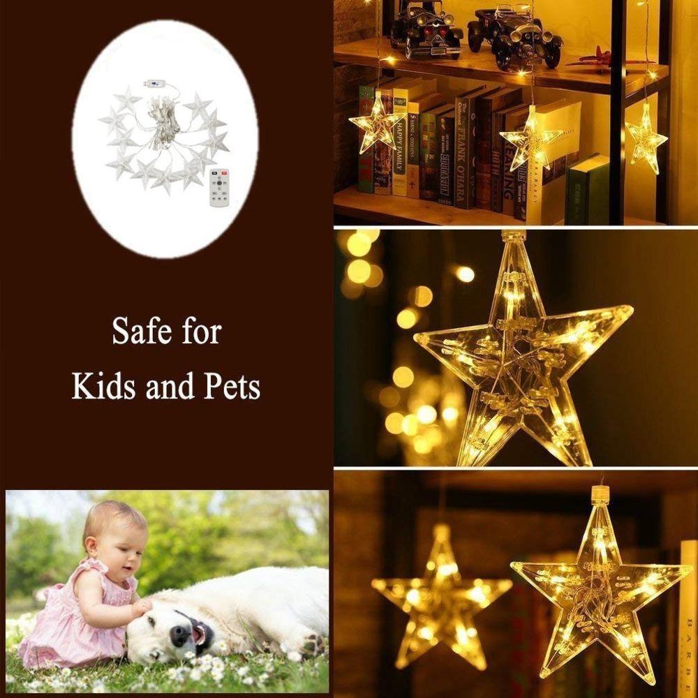 Generic Noël Led Rideaux Télécommande étoile lumières décoratives
