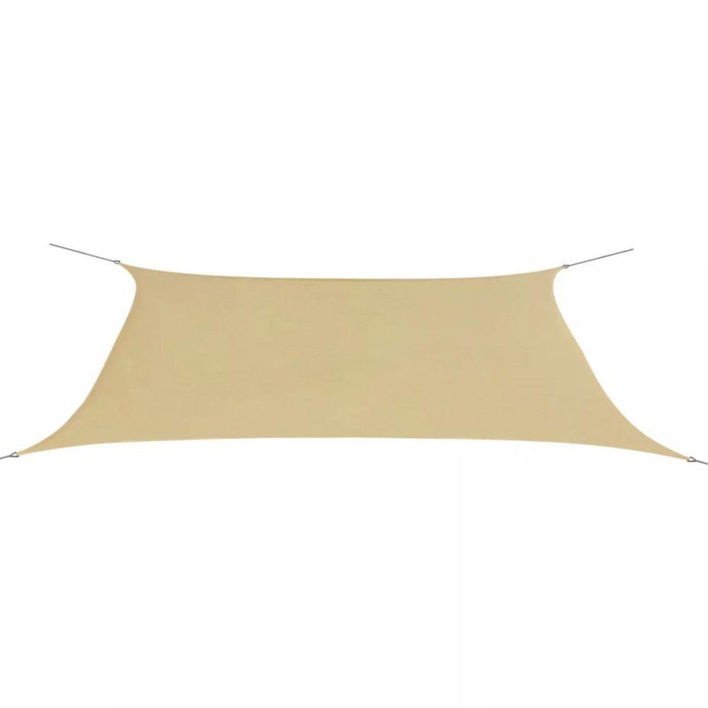 Vidaxl Parasol en tissu Oxford rectangulaire 4x6 m beige | Beige