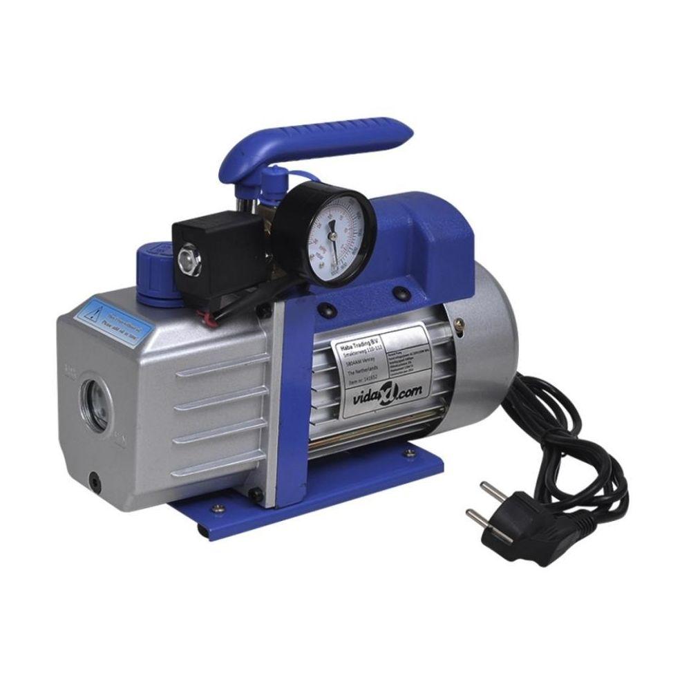 Helloshop26 Pompe à vide simple étage avec manomètre 71 litres / min systèmes frigorifiques, machines d'impression, appareils médica