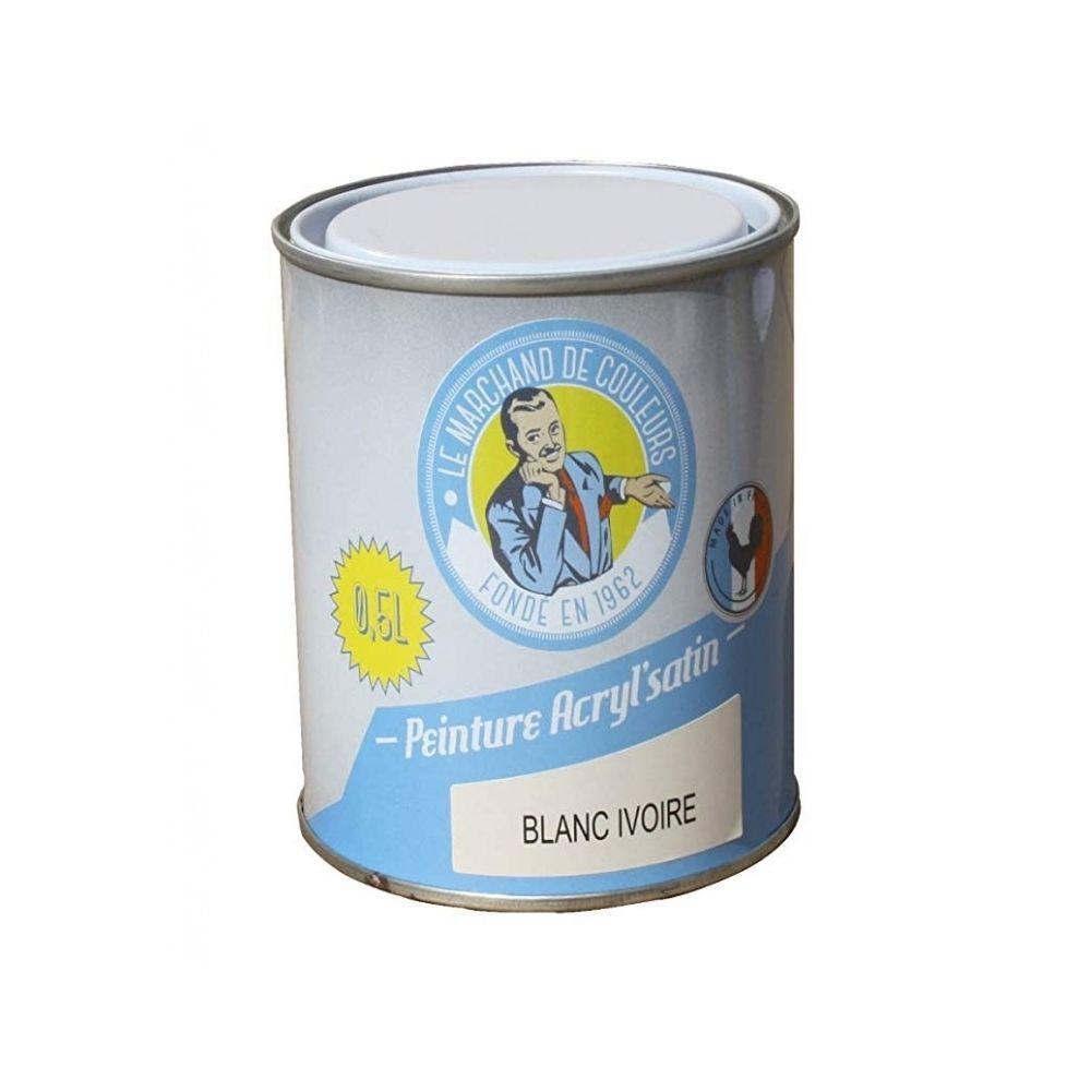 Onip Peinture acrylique - Murs et plafonds - Satin - Blanc Ivoire - 0.5 L - ONIP