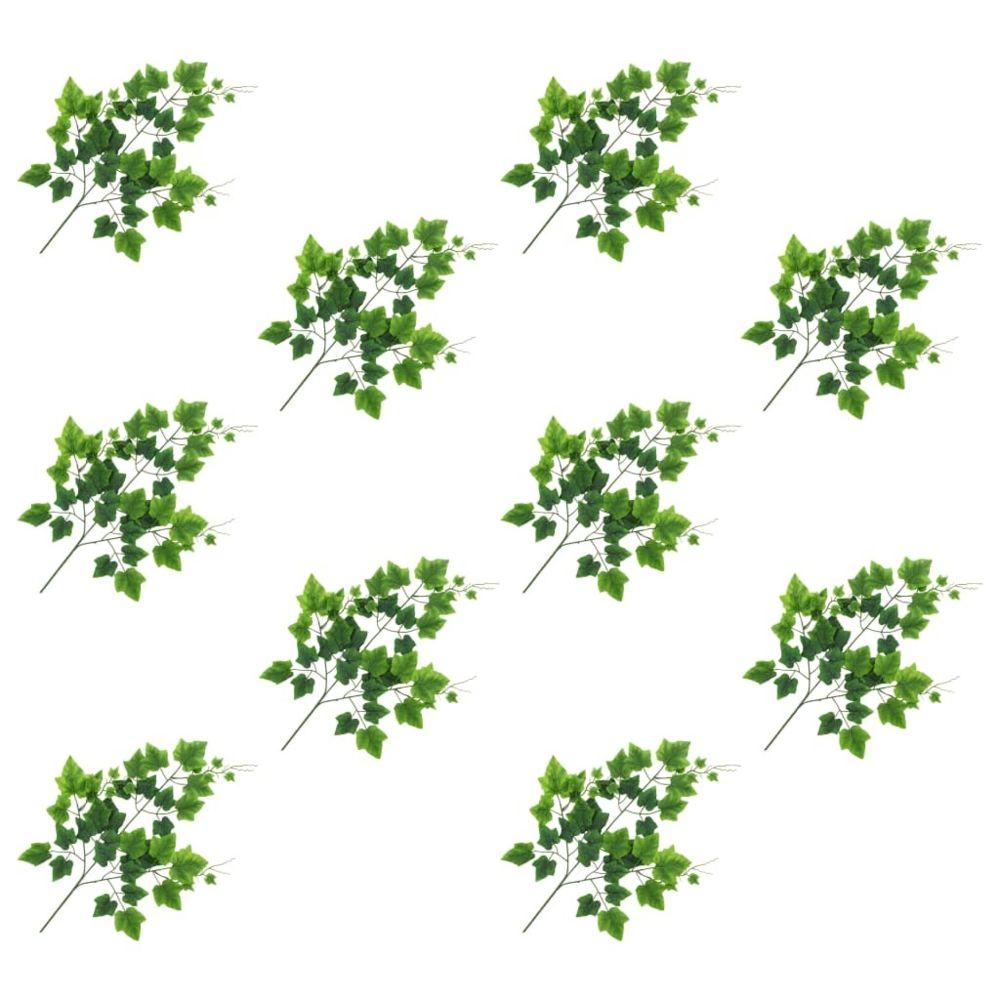 Vidaxl vidaXL 10 pcs Feuilles artificielles de raisin Vert 70 cm