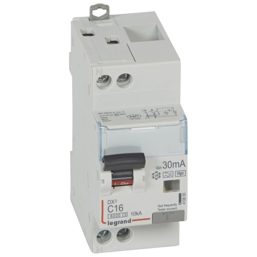 Legrand disjoncteur différentiel legrand dx3 16a courbe c 30ma 2 poles type hpi - vis / vis