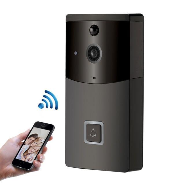 PQZATX Sonnette de S/éCurit/é Sans Fil Judas 720P Interphone Visuel Vid/éO Sonnette Wifi Intelligente Pir de Vision Nocturne