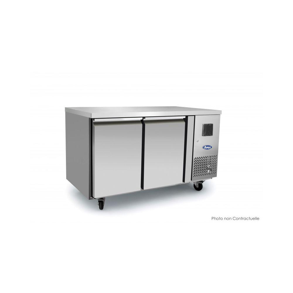 Atosa Table Réfrigérée Positive Tropicalisée - 2 Portes - Sans Dosseret - Atosa - 700