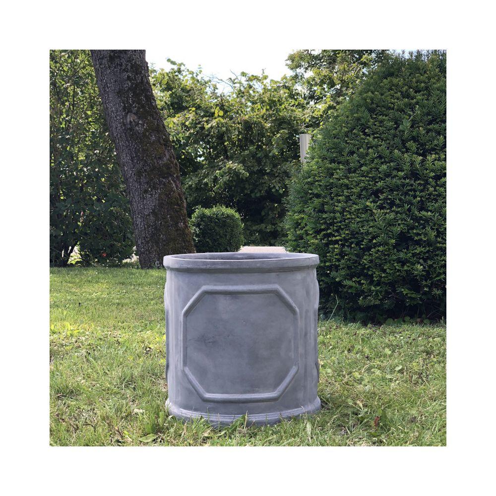 L'Originale Deco Grande Jardinière Bac Jardiniere Pot à Plantes Arbre de Jardin d'Entrée Vase Vasque Medicis ø37.50 x 37 cm