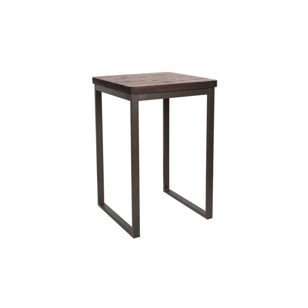 Mathi Design NEVADA - Mange debout 70 cm acier/bois massif foncé