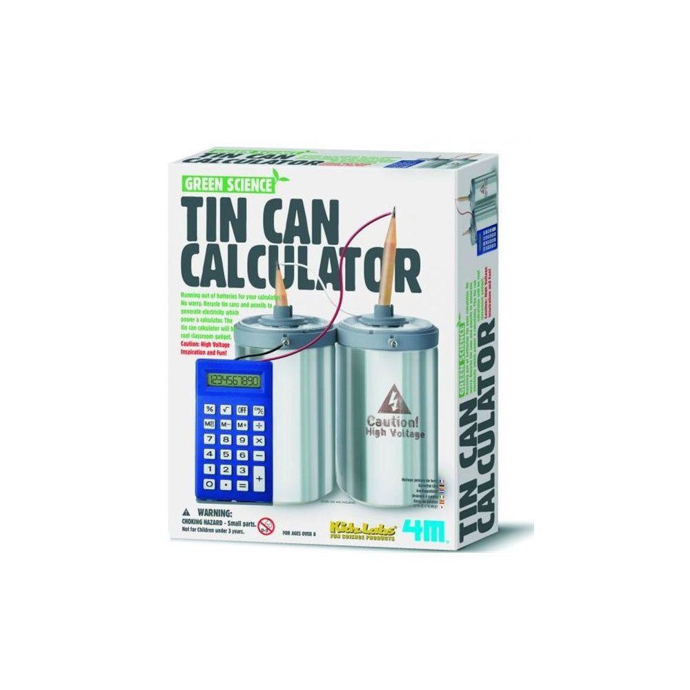 4M - Kidz Labs Kit de fabrication Green Science : Calculatrice Canette