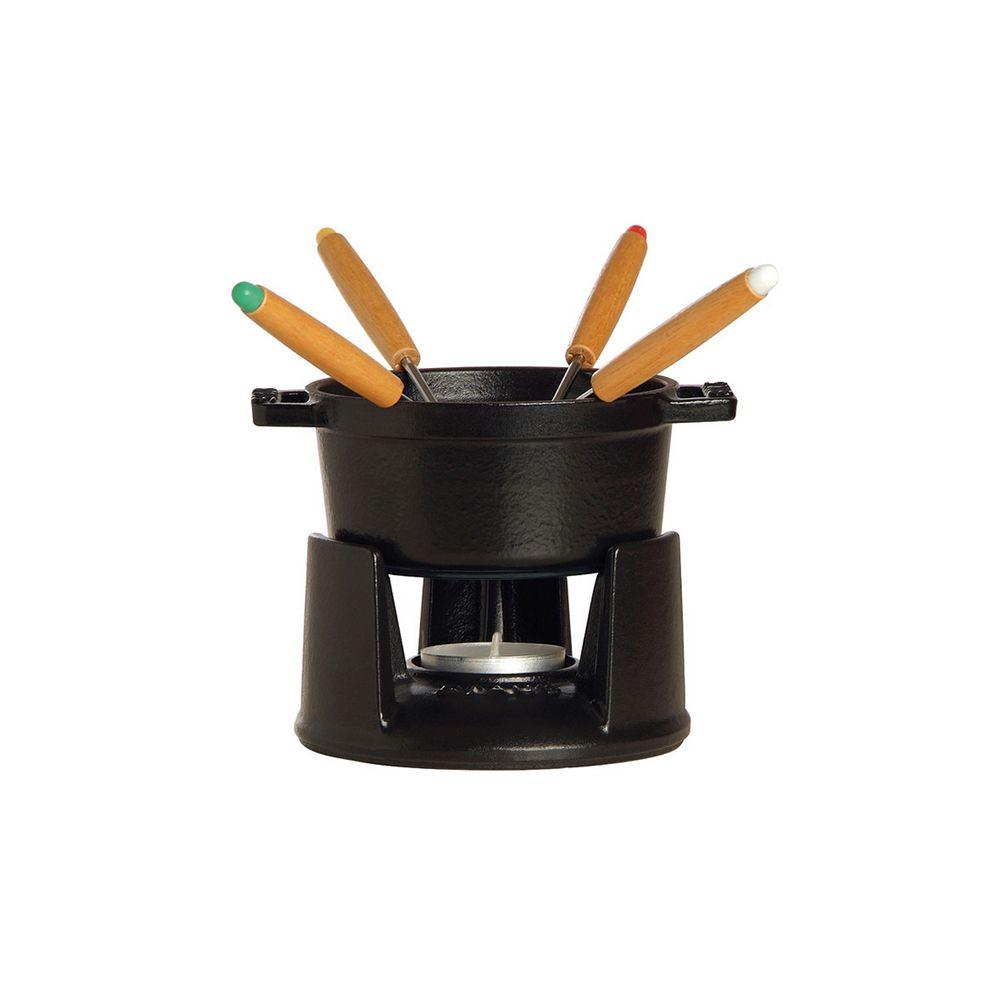 Staub staub - mini fondue à chocolat en fonte 10cm 4 personnes noir mat - 1400423