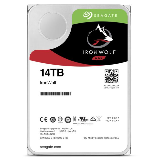 Seagate - Ironwolf 14 To - 3.5'' SATA III 6 Go/s - Cache 256 Mo - Disque Dur interne