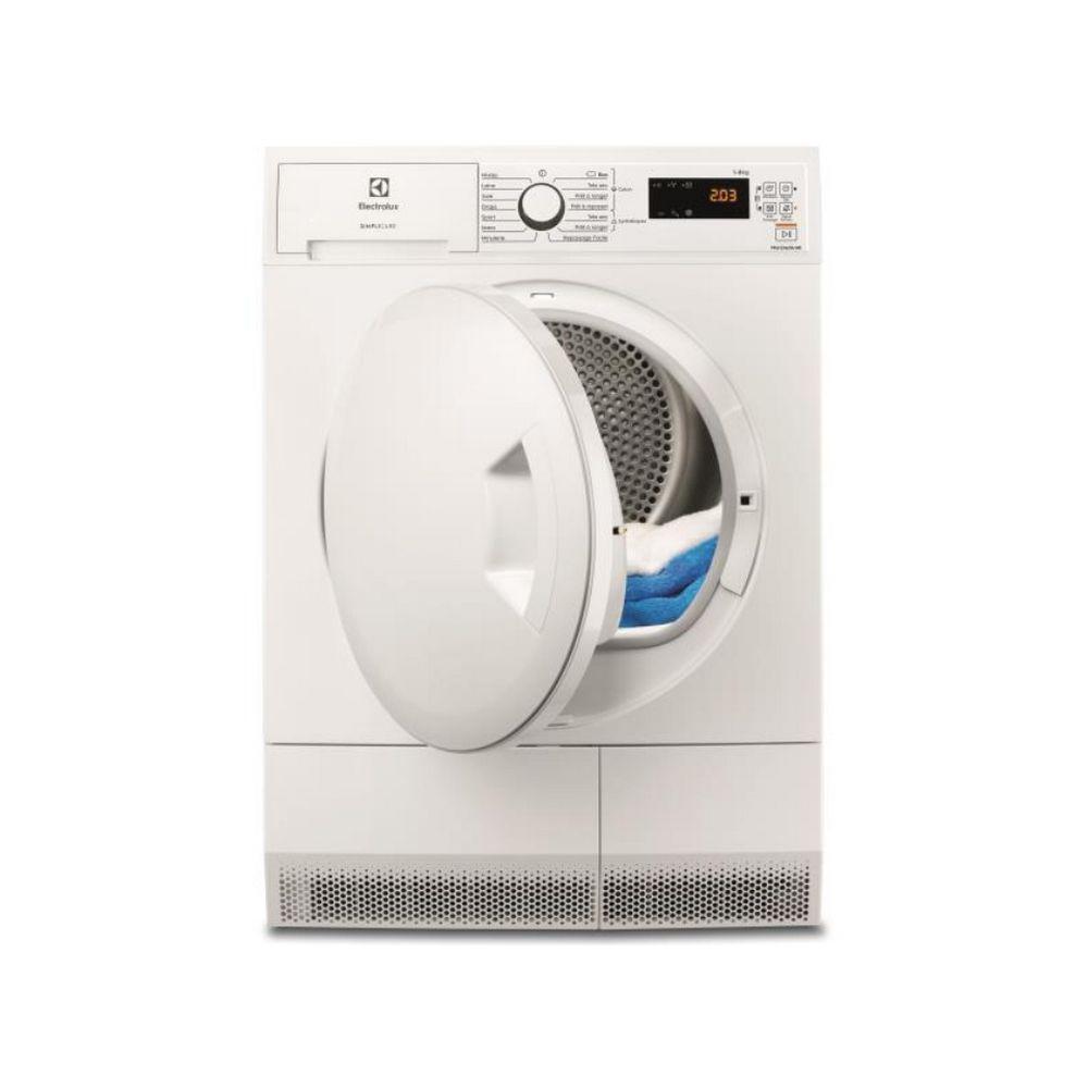 Electrolux electrolux - sèche-linge pompe à chaleur avec condenseur 60cm 8kg a+ blanc - ew7h4801sc