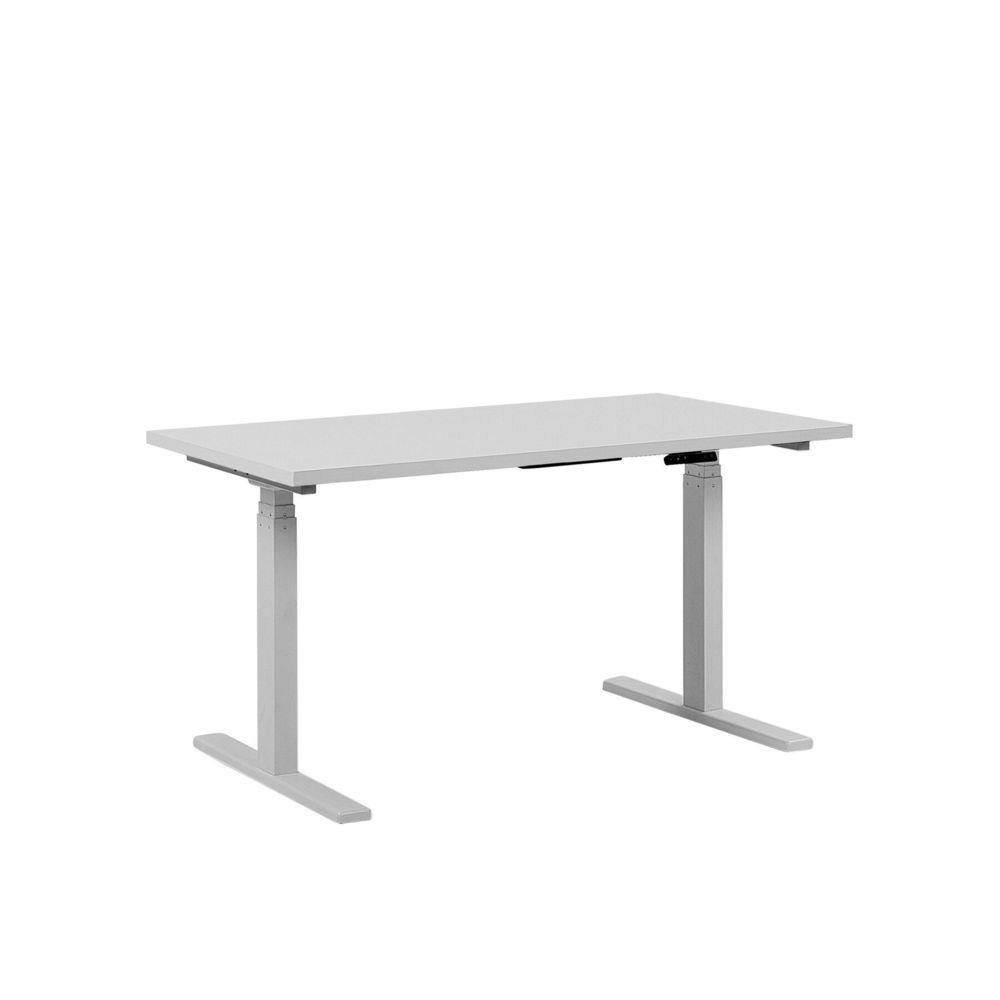 Beliani Beliani Table de bureau 160 x 72 cm blanche hauteur réglable par electronique DESTIN II - blanc