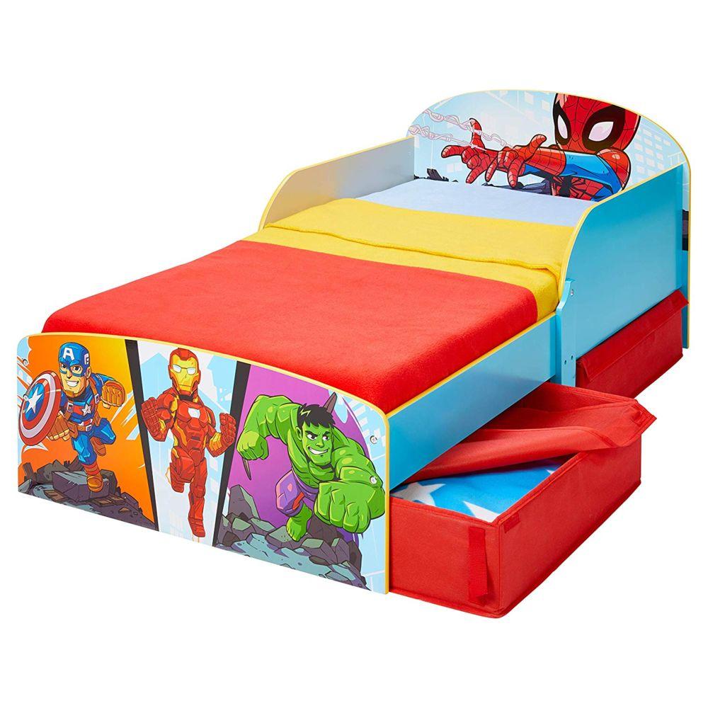 WORLDS APART Lit Enfant avec tiroirs de rangement Avengers Marvel Disney 140 cm