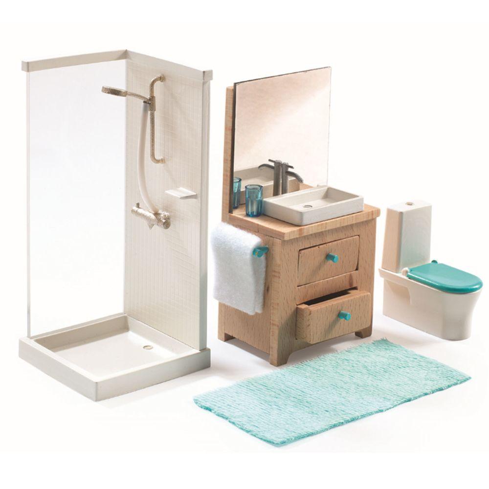 Djeco Accessoire maison de poupées : La salle de bain