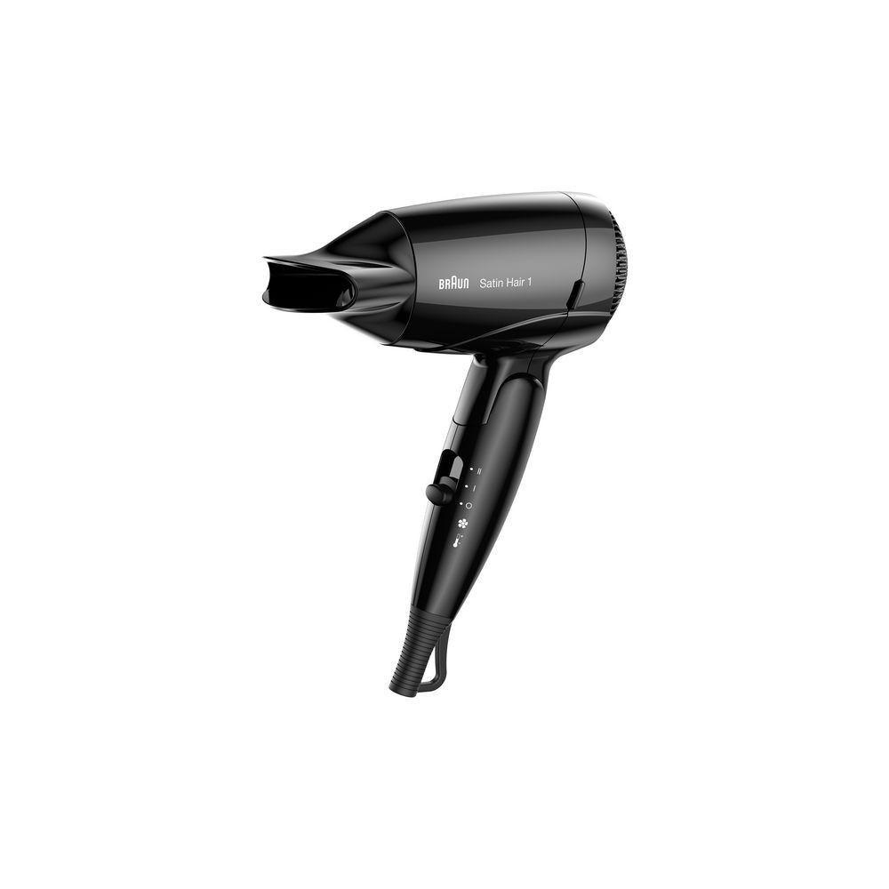 Totalcadeau Sèche cheveux professionel Fonction Air frais - Poignée pliable, Réglages de la chaleur et Embout concentrateur d?air